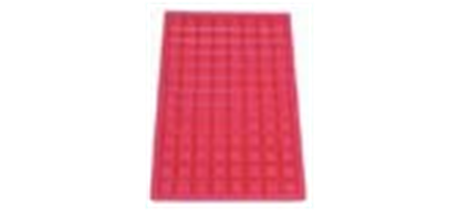 Picture of SQUARE IRON RUBBER MAT EPDM  RED